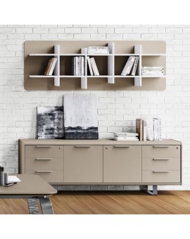 Aménagement bureau - meuble de rangement stone grey